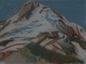 drawing titled Mount Hood From Cooper Spur