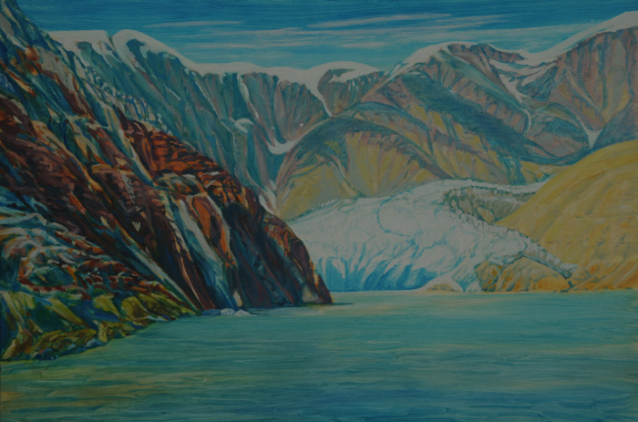 painting titled Approaching Sawyer Glacier