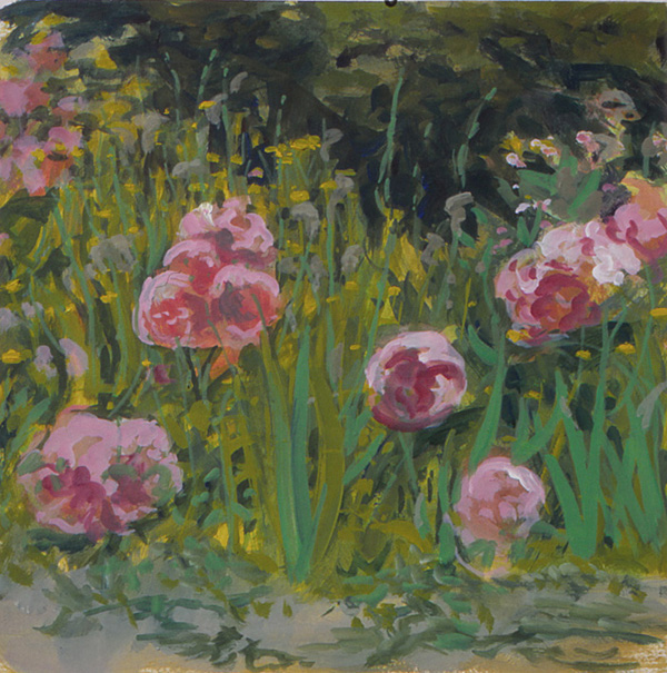 painting titled  Peonies