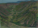 drawing titled Big Indian Gorge Steens Mountrain